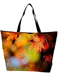 Snoogg Autumn Leaves In Trees Designer Waterproof Bag Made Of High Strength Nylon