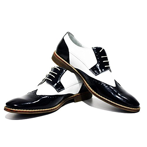 Al Capone eleganti scarpe da uomo - 44 - UE colorate a mano scarpe di cuoio italiane Oxfords casuale formale Premium Unique Shoes regalo Lace Men Dress Up dell'annata delle