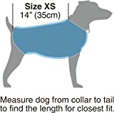 """Kakadu Pet Nylon Shell And Fleece Lined Dog Coat With Reflective Stripe, Extra Small 14"""", Flame (Red)"""