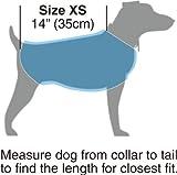 "Kakadu Pet Nylon Shell And Fleece Lined Dog Coat With Reflective Stripe, Extra Small 14"", Sea (Blue)"