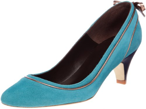 Karine Arabian Bow, Scarpe Con Tacco Donna, Blu (Turquoise/Rose), 37