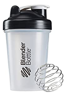 BlenderBottle Classic Shaker Cup Water Bottle - Black Transparent, 20 oz