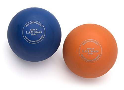 Premium Massage Lacrosse Balls By LAX Stars Professional Myofascial Tension Release- Rubbing Balls For Feet- Trigger Point Therapy Balls, Muscle Knots, Yoga, Pilates- Pack Of 2 Balls (Reflex Bearings compare prices)