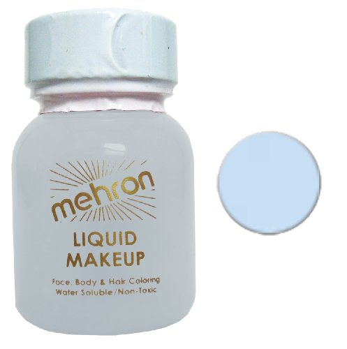 Mehron Liquid Face and Body Painting Makeup (1 ounce, Moonlight White) - 1
