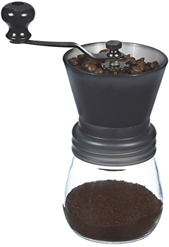 Best Buy! GROSCHE Bremen Adjustable Ceramic Conical Burr Manual Coffee Grinder (Black)