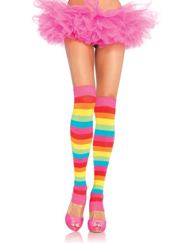 Leg Avenue Women's Rainbow Costume Leg Warmers
