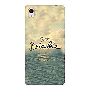 Enticing Just Breath Multicolor Back Case Cover for Sony Xperia M4