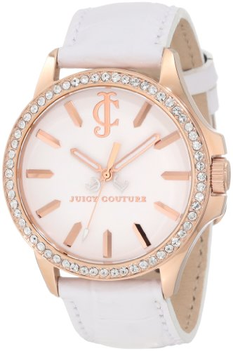 Juicy Couture Women's 1900968 Jetsetter White Leather Strap Watch