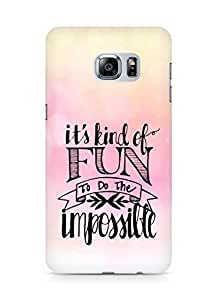 AMEZ its kind of fun to do the impossible Back Cover For Samsung Galaxy S6 Edge Plus