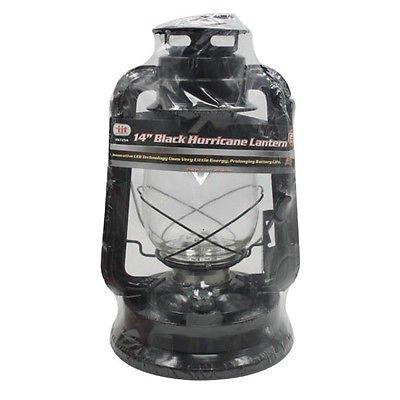 """6 Lot 14"""" In 21 Led Black Hurricane Lantern Hanging Emergency Camping Lamp"""