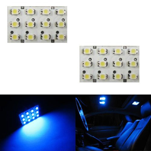 iJDMTOY 12-SMD LED Interior Map Dome Panel Lights, Ultra Blue