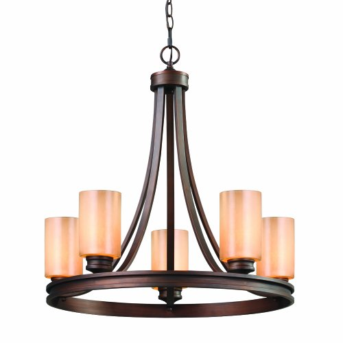 Golden Lighting 1051-5 SBZ Hidalgo 5 Light Chandelier, Sovereign Bronze Finish