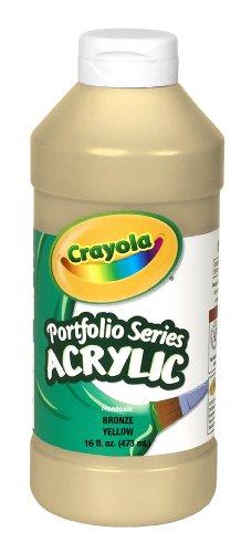 Crayola Portfolio Series 16-Ounce Acrylic Paint Bronze, Yellow