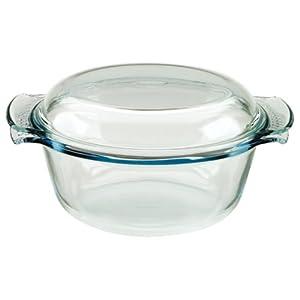 pyrex 112a000 5043 cocotte ronde verre classic. Black Bedroom Furniture Sets. Home Design Ideas
