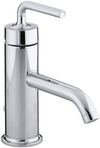 KOHLER K-14402-4A-CP Purist Single Control Lavatory Faucet with Straight Lever Handle, Polished Chrome