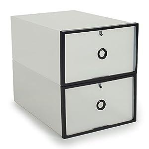 2pcs bo te de rangement coffret tiroir pp stockage - Amazon rangement chaussures ...