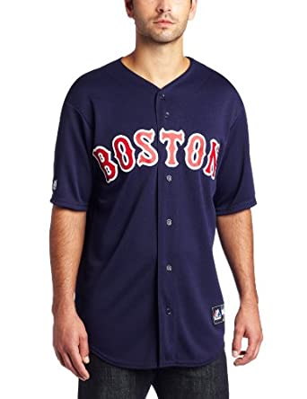 MLB Boston Red Sox Alternate Replica Jersey, Navy by Majestic