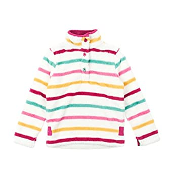 Joules Girls? Merridie Fleece Sweatshirt ? Multi Stripe P_JNRMERRIDIE - 6