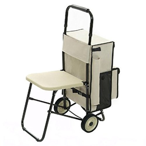 rest n roll stnd 1 deluxe multipurpose carrying cart with built in seat 777000200906. Black Bedroom Furniture Sets. Home Design Ideas