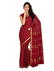 Kaushika Crepe Mysore Traditional Silk Saree Maroon
