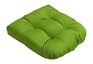 High Quality - Indoor/Outdoor - One Seat Cushion -Green - Exclusively by Blowout Bedding from BlowOut Bedding