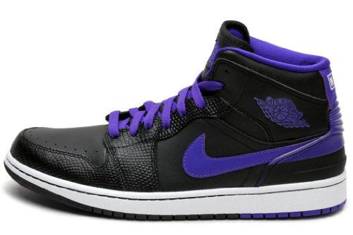 Images for Nike Men's Jordan 1 Retro '86 Black/Dark Concord/White Basketball Shoe 13 Men US