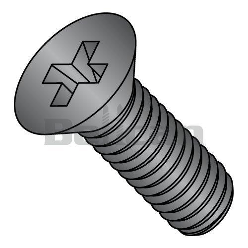 "#10-32 x 3//4/"" Phillips Pan Head Machine Screws Steel w Black Oxide SAE 10"