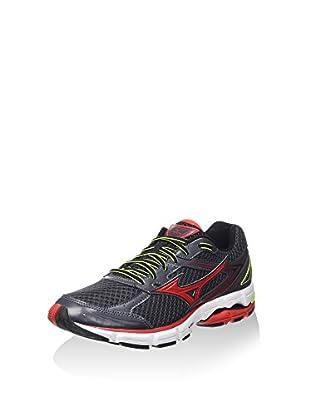 Mizuno Zapatillas de Running Wave Connect (Antracita / Rojo)