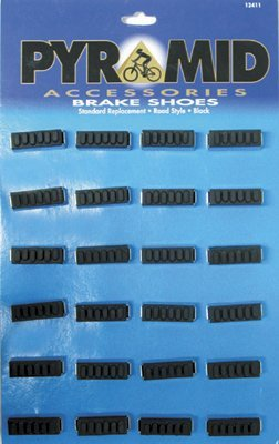 Buy Low Price Pyramid Bicycle Brake Shoes Road 12 Pair-To Card Black (12411M)