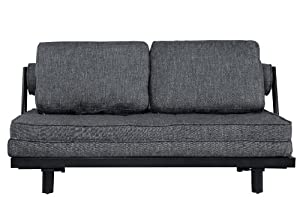 Abbyson Living Gray Convertible Euro Sofa Lounger Oasis 2