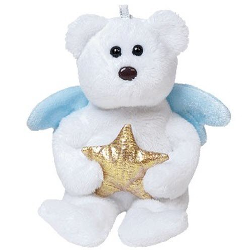 Ty Jingle Beanies Star - Angel Bear