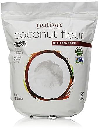 Amazon.com: Nutiva Organic Coconut Flour, 3 Pound: Prime