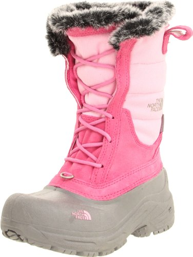 The North Face Shellista Lace-Up Insulated Boot (Toddler/Little Kid/Big Kid),Begonia Pink/Q-Silver Grey,2 M Us Little Kid front-759517
