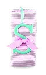 Mud Pie Cotton Receiving Blanket, S/Pink