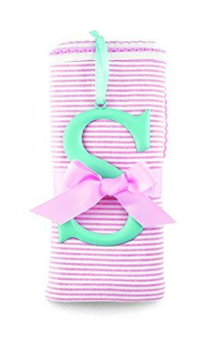 Mud Pie Cotton Receiving Blanket, S/Pink - 1