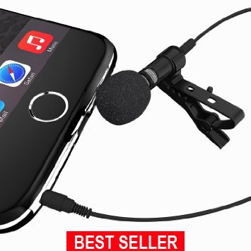 The #1 Rated Deluxe Microphone System- Lavalier Microphone Can Be Used On All Phones, Karaoke, Youtube, Studio; Microphone System For Computers; Lapel Dynamic Mic Noise Cancelling Microphone (Studio Voice Mixer compare prices)