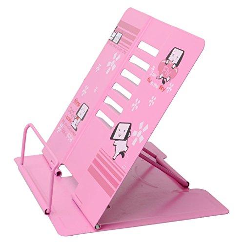 Desk Accessories - Lovely Nime Dog Pattern Adjustable Book Holder Reading Desk Book Stand Pink