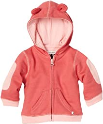 Babysoy Baby-Girls Newborn Soft Fleece Hoodie, Blossom, 6-12