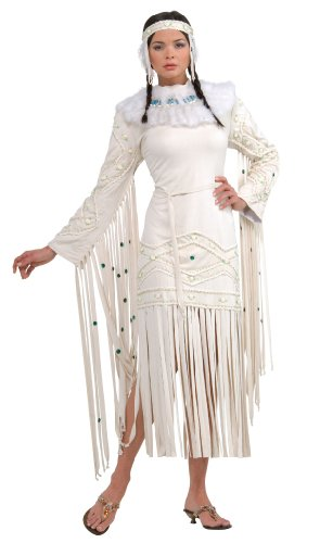 Rubie's Costume Grand Heritage Collection Deluxe Indian Maiden Costume, White, Standard