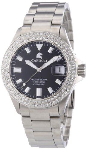 Carucci Watches CA2200ST-BK - Reloj de pulsera mujer, acero inoxidable, color plateado