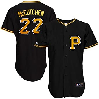 MLB Pittsburgh Pirates Andrew Mccutchen Black Alternate Short Sleeve 6 Button... by Majestic