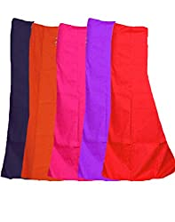Javuli Women Cotton Half Slips (In-Com5-Purple-Red-Navy-Orange-Pink _Multi-Coloured _Free Size)