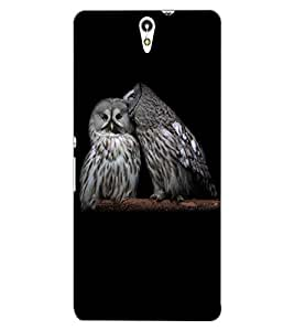 ColourCraft Loving Owls Design Back Case Cover for SONY XPERIA C5 ULTRA DUAL