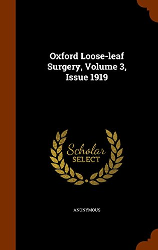 Oxford Loose-leaf Surgery, Volume 3, Issue 1919