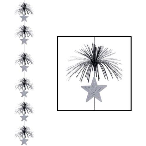Star Firework Stringer (black & silver) Party Accessory  (1 count) (1/Pkg) - 1