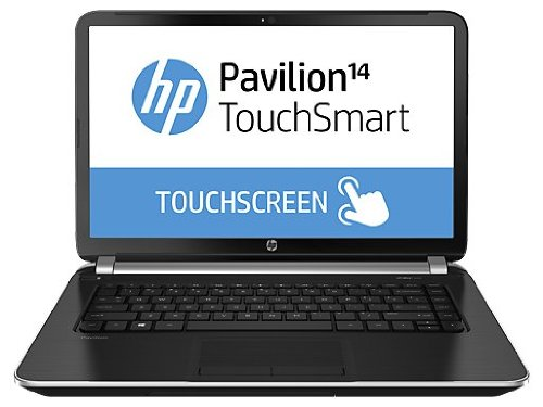 Laptop HP Pavilion Intel Core i5-4200U, pantalla touch de 14 pulgadas, 4GB de RAM y disco duro de 500 GB. Color negra.