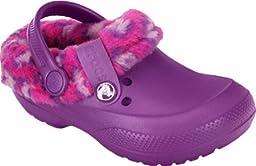 crocs 16014 Blitzen II Animal Prt Clog (Toddler/Little Kid),Amethyst/Candy Pink,12 M US Little Kid