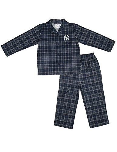 2 Pcs Set: Mlb New York Yankees Boys Pajama Top & Pants Set 4-5 Dark Blue front-915849
