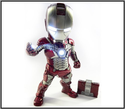 """Kids Logic Egg Attack Iron Man Mark V Armor Suit From Iron Man 2 """"Iron Baby"""" Ea-002 7"""" Lights Up Statue With Suitcase"""