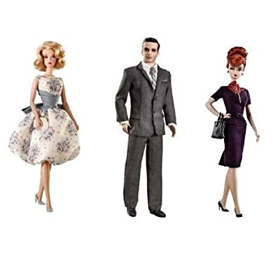 Barbie(バービー) Collector Mad Men Collection Joan Holloway Don Draper and Betty Draper Dolls ドール 人形 フィギュア(並行輸入)